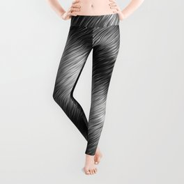 Black and White Hatched Ombre Leggings
