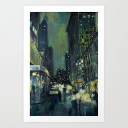 Into the Gaslight Art Print