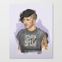 coconutwishes Canvas Prints featuring Zayn  by Coconut Wishes
