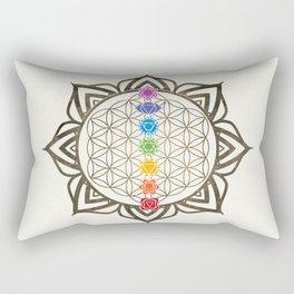 Flower of Life Chakra Healing Mandala Rectangular Pillow