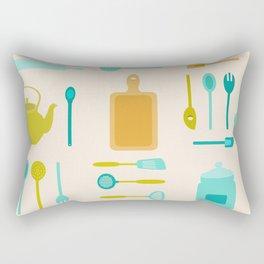 AFE Kitchen Utensils Pattern II Rectangular Pillow