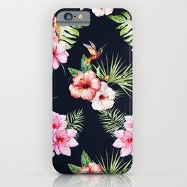 Tropical Bird Pattern 12 iPhone Case