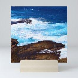 Hawaiian Rocking, Rolling Surf Waves Mini Art Print