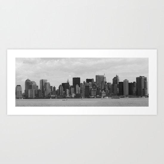 Old Skyline Panorama Art Print