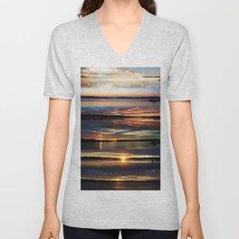 Stacked sunrise Unisex V-Neck