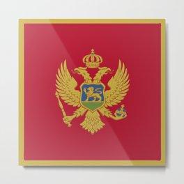 Montenegro flag emblem Metal Print