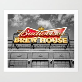 The Brew House At Ballpark Village - Busch Stadium Selective Color Art Print