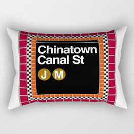 subway chinatown sign Rectangular Pillow