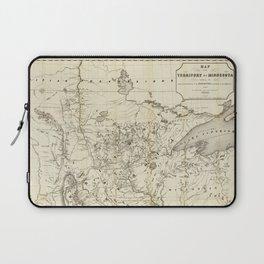 Territory of Minnesota Map (1849) Laptop Sleeve