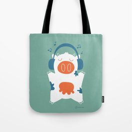 Music cow Tote Bag