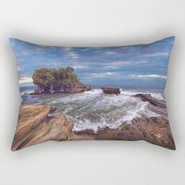 Tanah Lot - Temple in the Ocean. Indonesia Rectangular Pillow