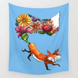 Hunt Flowers Not Foxes Wall Tapestry