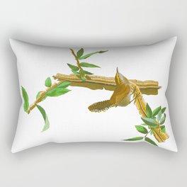 BEWICK'S LONG TAILED WREN Rectangular Pillow
