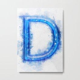 D Letter  Metal Print