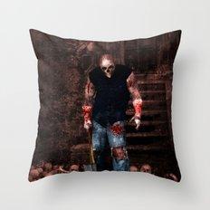 Splatterhouse Throw Pillow