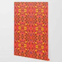 Boho Patchwork in Warm Tones Wallpaper