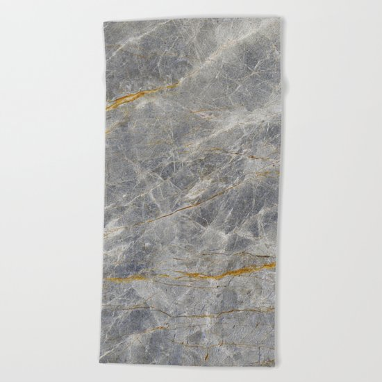 Grey Marble Beach Towel