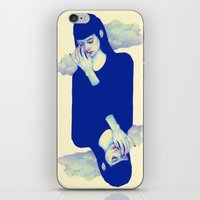 clouds iPhone & iPod Skins featuring Clouds by Natalie Foss