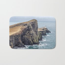 Lighthouse rock ocean Bath Mat