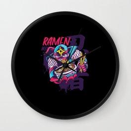 Ramen Ninja Kwaii Japanese Gift for Kids Wall Clock