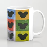 mickey Mugs featuring Mickey by Sierra Christy Art