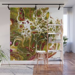Green Gold Marble Dream // Acrylic Pouring Art // Wall Mural