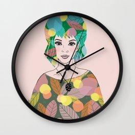 Woman portrait - Lily Wall Clock