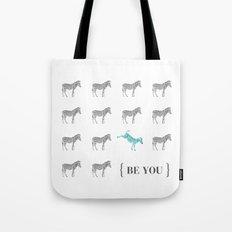 Be You - Zebra Print Tote Bag