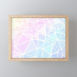 Pastel Triangles 1 Framed Mini Art Print