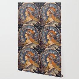 "Alfons mucha ,"" Zodiac "" Wallpaper"
