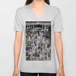 Abstract cityscape Unisex V-Neck
