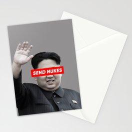 Send Nukes (North Korea Parody) Stationery Cards