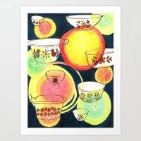 Citrus Dish Art Print