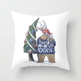 New year tree Throw Pillow
