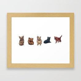 Love My Posing Cats Framed Art Print