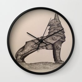 armored wolf Wall Clock
