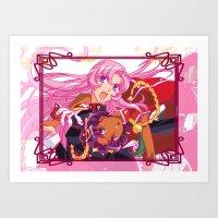 utena Art Prints featuring Utena La Filette Révolutionnaire by Neo Crystal Tokyo