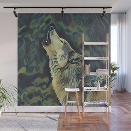 A Wolf Call Wall Mural