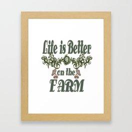 Teacher Teach School Kindergarten teaching tshirt love school farmer Framed Art Print