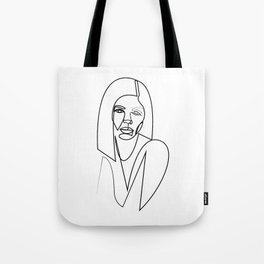 26at - one line female Tote Bag