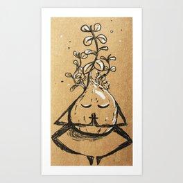 Namaste Plant Bulb Art Print