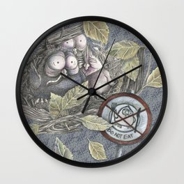 The Eagle and the Owl Wall Clock