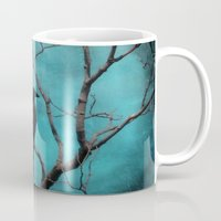 aqua Mugs featuring Aqua by The Strange Days Of Gothicrow