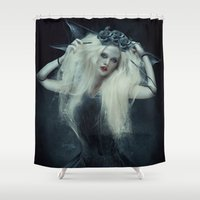 doll Shower Curtains featuring Fragile Doll by Kryseis Retouche