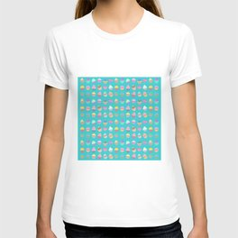 Cupcake sweet dream colourful factory pattern T-shirt