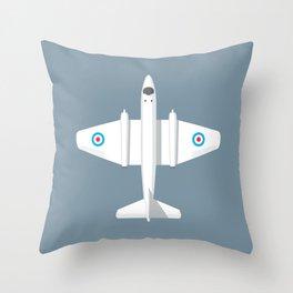 Canberra Jet - Slate Throw Pillow