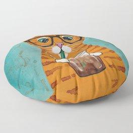 Iced Coffee Cat Floor Pillow