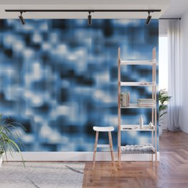 Smooth Blue Wall Mural