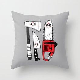 Happy Slasher Pals Throw Pillow