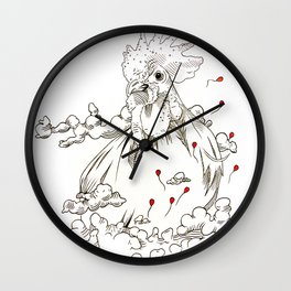Chicken of the Sky Wall Clock